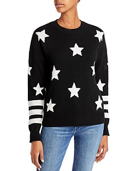 AQUA - Cashmere Star Sweater With Stripes - 100% Exclusive