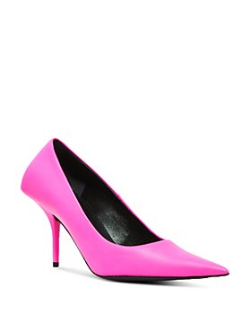 Balenciaga - Women's Square Knife Leather Pumps