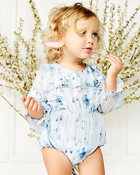 Bardot - Girls' Abbie Cotton Printed Ruffled One Piece - Baby