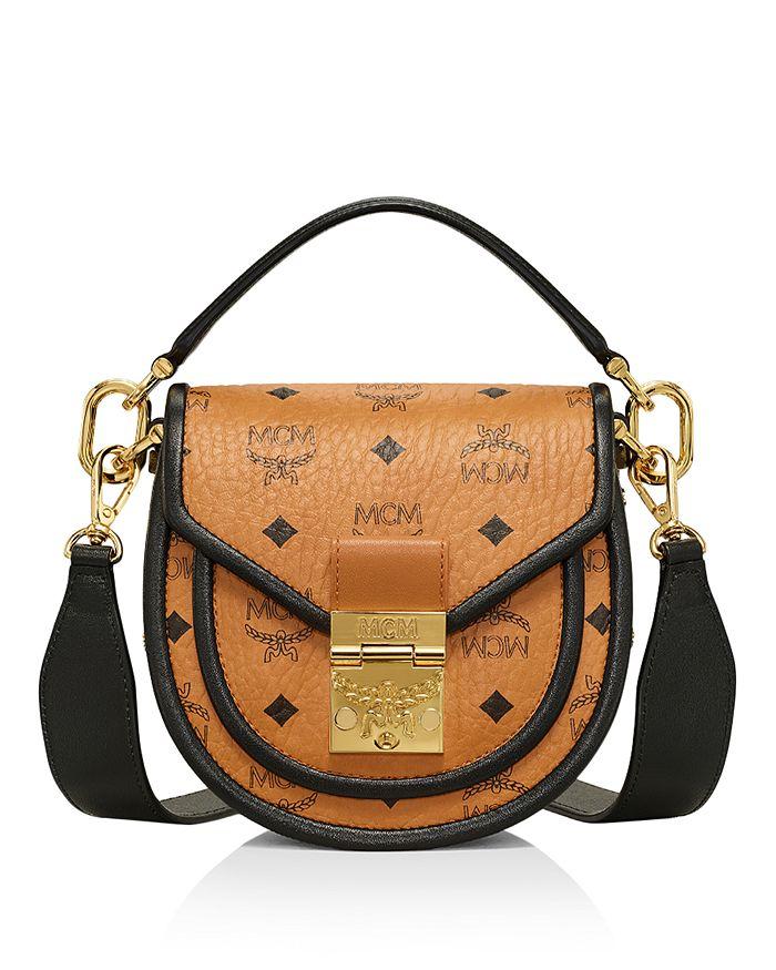 MCM - Patricia Visetos Color Block Leather Shoulder Bag