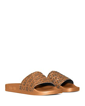 MCM - Women's Diagonal Logo Slide Sandals