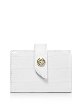 MICHAEL Michael Kors - Tab Mini Embossed Leather Card Case