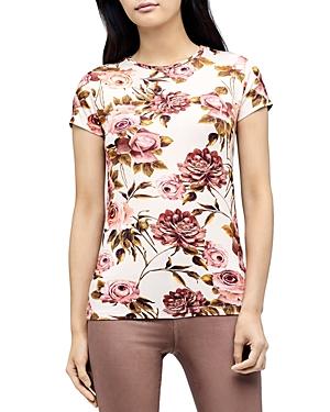 L\\\'Agence Ressi Crewneck Floral Print Tee-Women