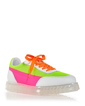 Joshua Sanders - Women's Zenith Air Neon Color Block Sneakers