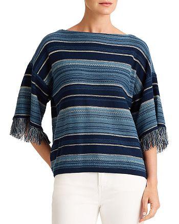 Ralph Lauren - Striped Fringe Cotton Sweater