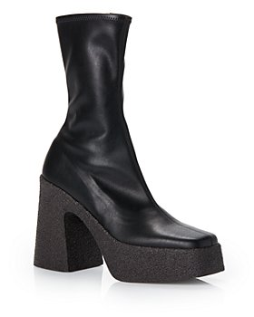 Stella McCartney - Women's Block Heel Platform Booties