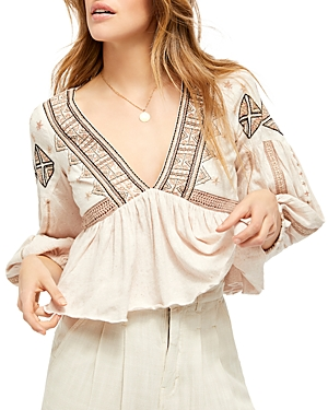 Free People Tops ARIA EMBROIDERED TOP