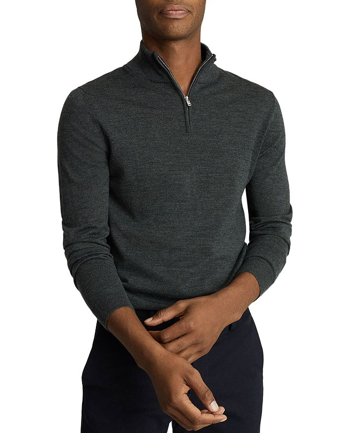 REISS - Blackhall Wool Funnel Neck Half Zip Sweater