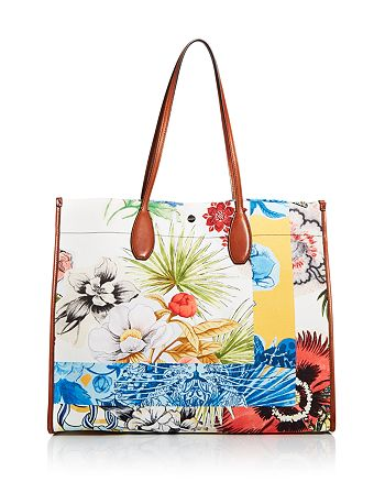 Salvatore Ferragamo - Floral Canvas Tote