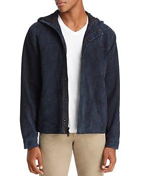 Vince - Hooded Suede Shirt Jacket