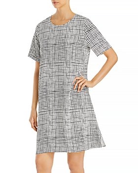 Eileen Fisher - Round Neck Printed Dress