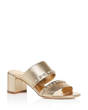 Salvatore Ferragamo - Women's Block Heel Slide Sandals