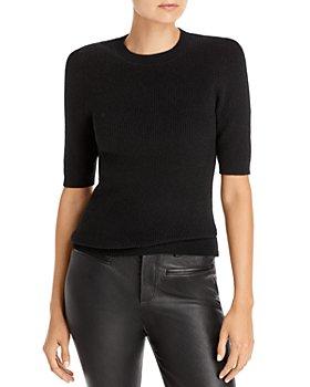 AQUA - Ribbed Cashmere Sweater - 100% Exclusive