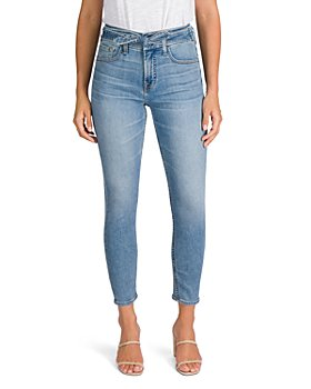 7 For All Mankind - Tie Front Skinny Ankle Jeans in Crest