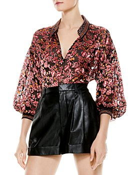 Alice and Olivia - Floral Sheer Top