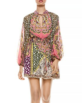 Alice and Olivia - Lilian Printed Belted Dress