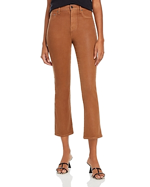 Pistola Lennon High Rise Cropped Jeans in Coated Whiskey