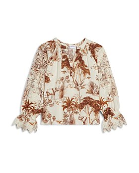 Sandro - Jole Printed Broderie Top