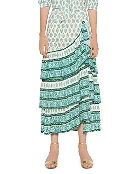 Sandro - Naemi Printed Ruffled Skirt