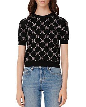Maje - Mina Monogram Jacquard Sweater