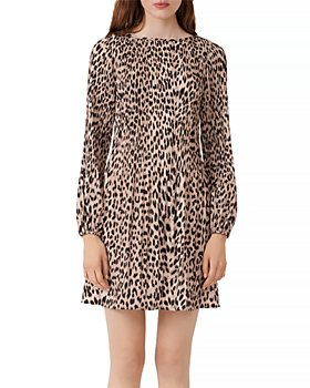 Maje - Rockine Pleated Animal Print Dress