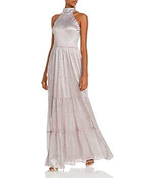 AQUA - Tiered Metallic Gown - 100% Exclusive