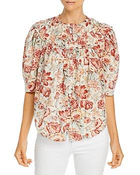 Rebecca Taylor - Lucienne Floral Print Cotton Top