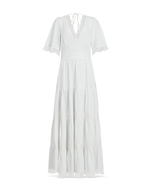 Allsaints Eris Lace Trim Maxi Dress
