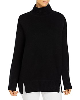 Vince - Double Slit Cashmere Turtleneck Sweater
