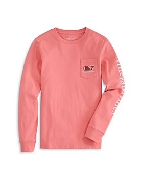 Vineyard Vines - Boys' Long Sleeve Football Whale Tee - Little Kid, Big Kid