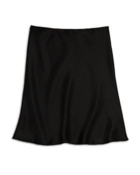 AQUA - Girls' Satin Midi Skirt, Big Kid - 100% Exclusive