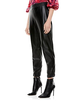Alice and Olivia - Pete Low Rise Faux Leather Pants