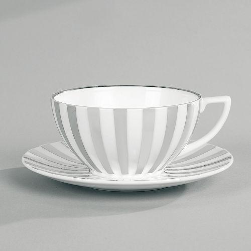 "Jasper Conran Wedgwood - Jasper Conran at Wedgwood ""Platinum Stripe"" Tea Cup"