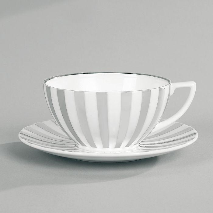 "Wedgwood - Jasper Conran at  ""Platinum Stripe"" Tea Cup"