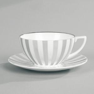 Jasper Conran at Wedgwood Platinum Stripe Tea Saucer