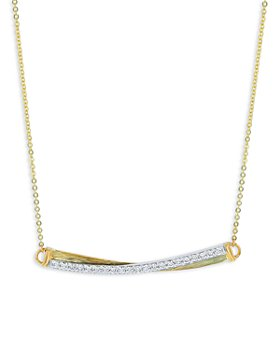 "Bloomingdale's - Diamond Bar Pendant Necklace in 14K Yellow Gold, 18"" - 100% Exclusive"