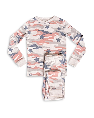 Pj Salvage Girls\\\' Star Camo Print Pajama Set - Little Kid, Big Kid-Kids