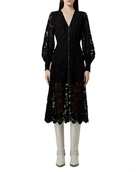 The Kooples - Ecru Lace Midi Dress