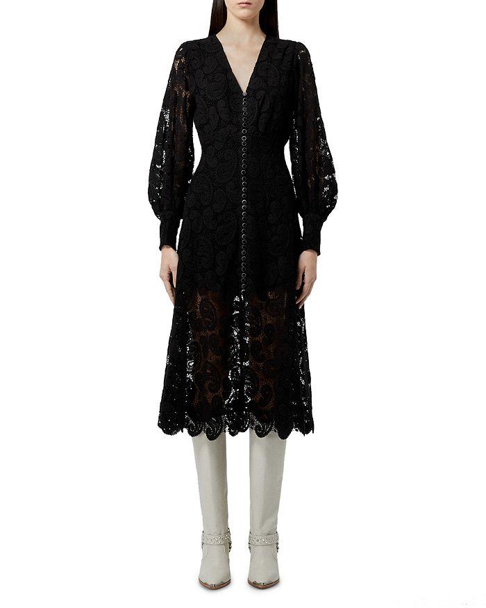 The Kooples - Ecru Lace Midi Dress
