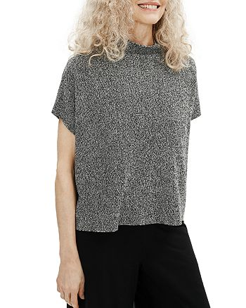 Eileen Fisher - Organic Linen & Cotton Funnel Neck Sweater
