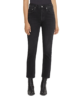 Agolde Riley High Rise Cropped Straight Leg Jeans in Panoramic