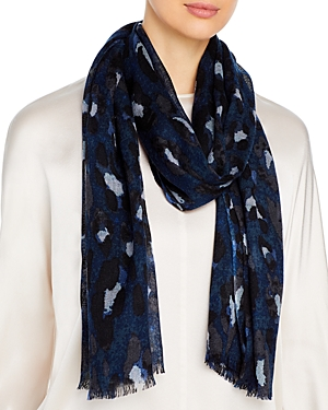 Bloomingdale's Leopard Print Wool Scarf - 100% Exclusive