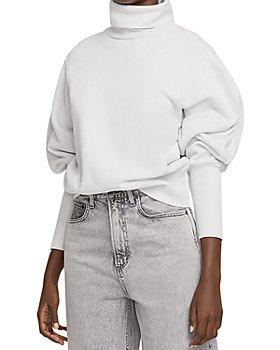 AGOLDE - Turtleneck Balloon Sleeve Sweatshirt