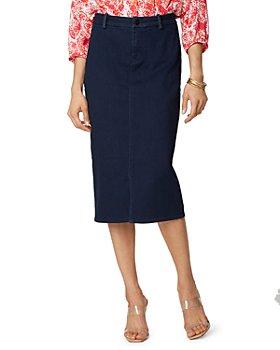 NYDJ - Braided Trim Denim Midi Skirt in Rinse