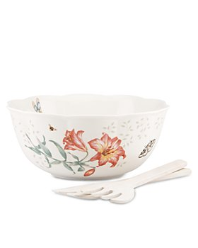 Lenox - Butterfly Meadow Salad Bowl and Server Set
