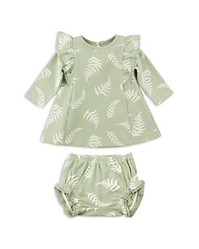 Oliver & Rain - Girls' Fern Print Knit Organic Cotton Dress - Baby