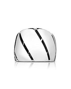 Roberto Coin - 18K White Gold Wide Torchon Ring
