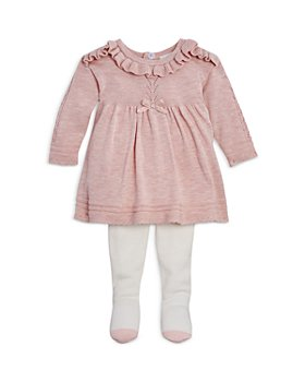 Miniclasix - Girls' Ruffled Lace Sweater & Sweater Tights Set - Baby