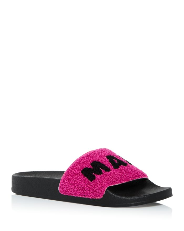 Marni Women's Logo Slide Sandals    Bloomingdale's