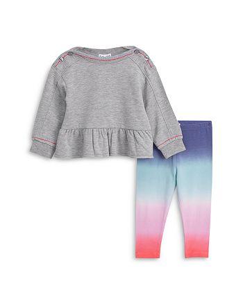Splendid - Girls' Peplum Top & Dip Dyed Leggings Set - Baby